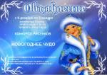 """Конкурс рисунков и поделок на тему """"Новогоднее чудо"""" Рязань"""