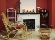 Кресло-качалка у камина, город Рязань