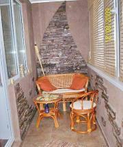 Мебель из ротанга на лоджии, город Рязань