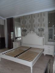 Спальня с высоким изголовьем (массив тополя), город Рязань