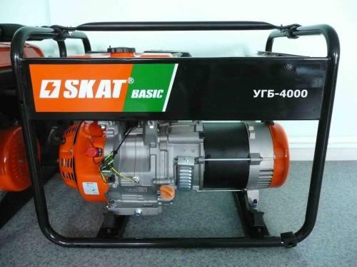Бензиновая электростанция SKAT BASIC УГБ 4000, город Рязань