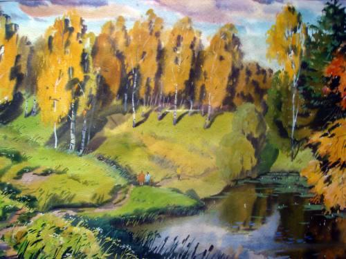Пейзажи (акварель) автор. Устин В., город Рязань