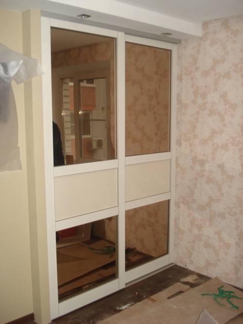 Модульный встроенный шкаф-купе, город Рязань