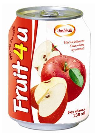 """Cокосодержащий напиток с кусочками фруктов """"Fruit4u"""", город Рязань"""