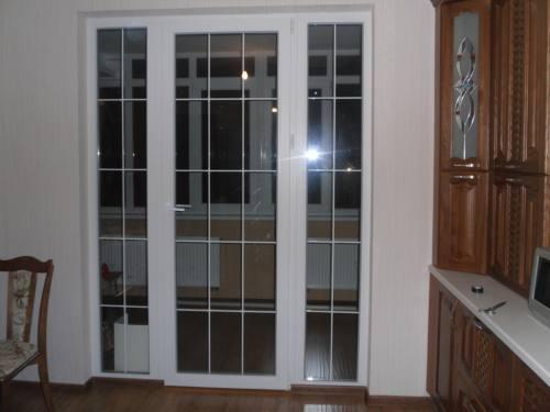 Французские окна - из профиля ПВХ, город Рязань