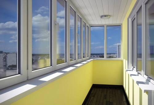 Остекление балконов профилем ПВХ, город Рязань