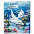 """Картина по номерам """"Два дельфина"""" / 60х75см, город Рязань"""