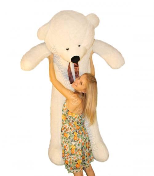 Большой белый плюшевый медведь от 1,2 до 2 метров!, город Рязань