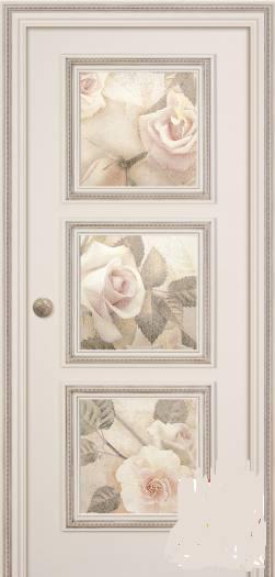 Дверь Беллини Эмаль Слоновая Кость Фреска Розы с двух сторон, город Рязань
