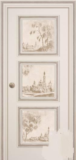 Дверь Беллини Эмаль Слоновая Кость Фреска Этюд с двух сторон, город Рязань