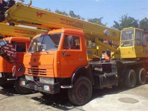 Аренда автокрана 25 тонн Ивановец, город Рязань