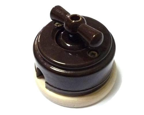 Ретро выключатель, «Шоколад», город Рязань