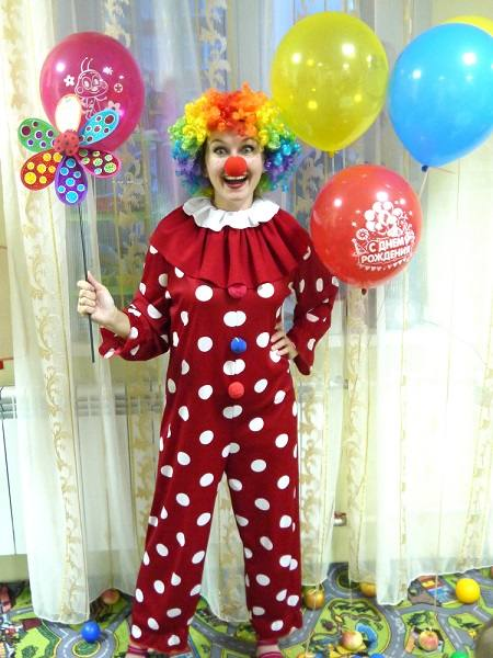 Клоун аниматор на день рождения, город Рязань