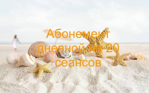 Дневной абонемент 20 сеансов, город Рязань
