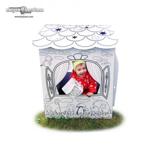 """Домик """"В гостях у лета"""" - 3D игрушка-раскраска из гофрокартона. Арт.Р33, город Рязань"""