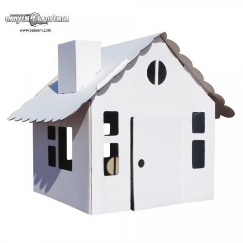 Домик в деревне - 3D игрушка-раскраска из гофрокартона. Арт.101, город Рязань