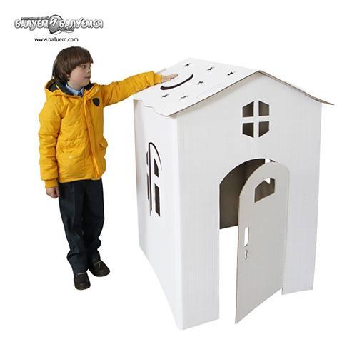 Коттедж - 3D игрушка-раскраска из гофрокартона. Арт.Р04, город Рязань