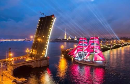 Санкт-Петербург: Алые паруса 2018, город Рязань