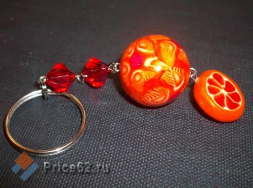 """Брелок ручной работы. """"Апельсинки"""". Полимерная глина., город Рязань"""