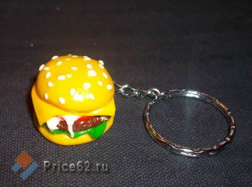 """Брелок ручной работы. """"Гамбургер"""". Полимерная глина., город Рязань"""
