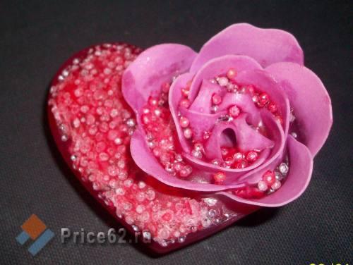 Розовое сердце. Мыло ручной работы., город Рязань
