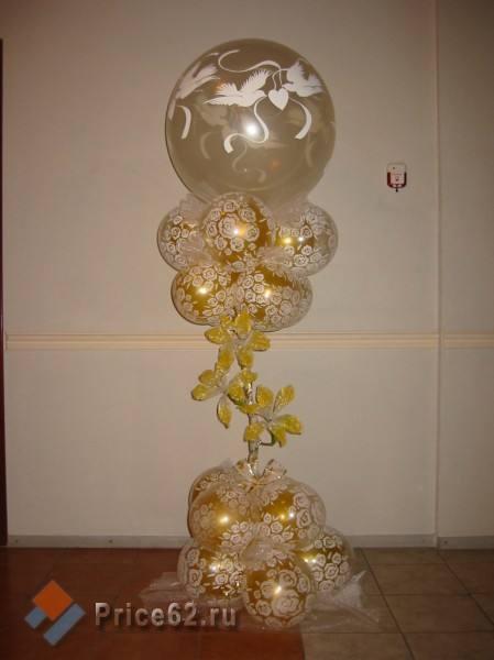 Украшение шарами, город Рязань