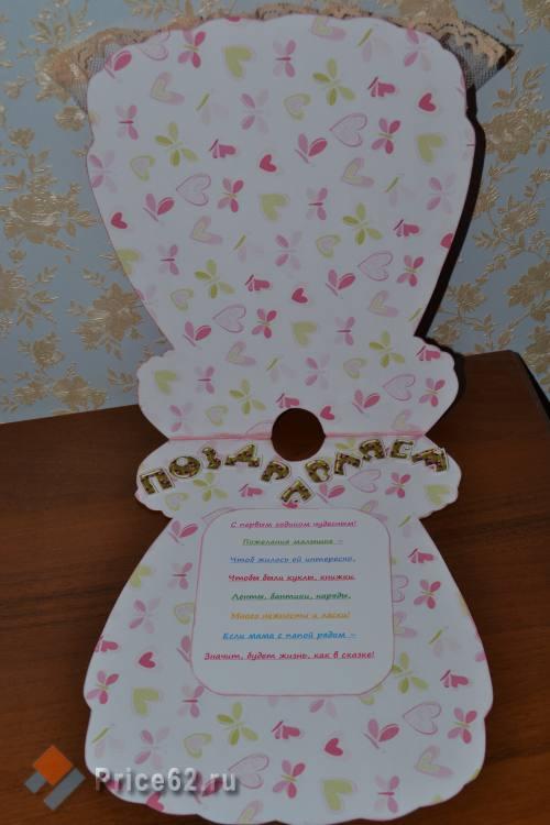 открыточка в виде платья, город Рязань