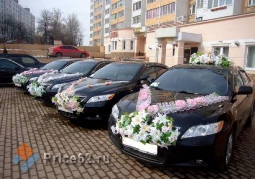 Свадебный кортеж, город Рязань