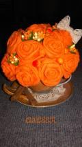 Цветочная композиция в чашке, город Рязань